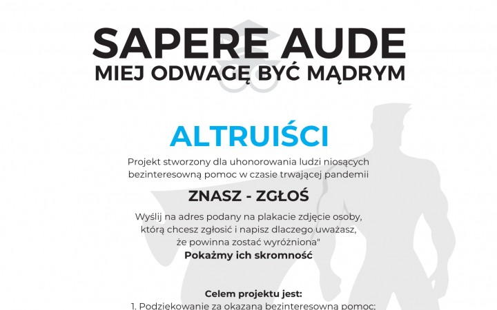 plakat Sapere Aude